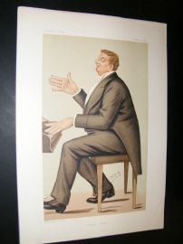 Vanity Fair Print 1885 Corney Grain, Music